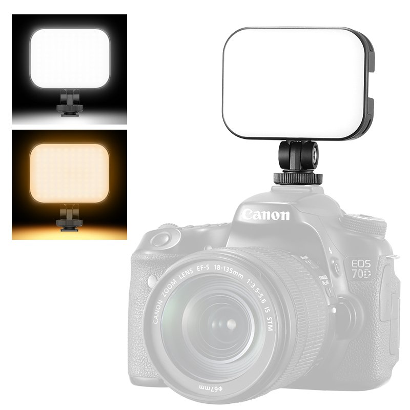 VijimVL-100C Mini Portable Dual Color Temperature Fill Light Micro Slr Camera Mobile Phone Photography Soft Light black