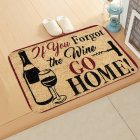Vintage Door Mat Letter Words Pattern Non slip Water Absorption Rugs for Outdoor Bathroom Kitchen Carpets 40 60cm