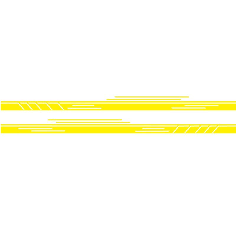 Vinyl Stripes Decal Car Body Side Wrap Black Graphics Waterproof Sticker yellow