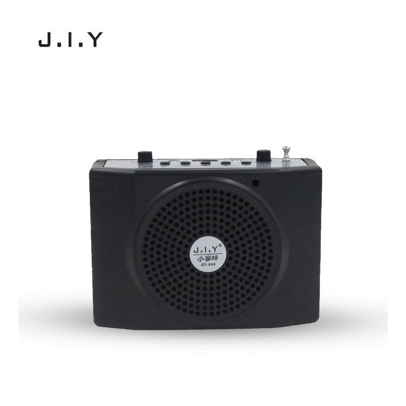Voice Amplifier Microphone Wired Coaches Bluetooth Speaker Voice Amplifier Megaphone Teaching Guide USB Charging Black European regulations