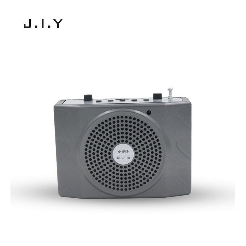 Voice Amplifier Microphone Wired Coaches Bluetooth Speaker Voice Amplifier Megaphone Teaching Guide USB Charging Grey European Regulation