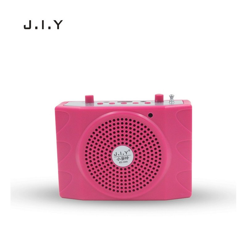 Voice Amplifier Microphone Wired Coaches Bluetooth Speaker Voice Amplifier Megaphone Teaching Guide USB Charging Red American regulations