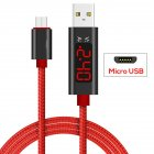 Voltage Current Display USB Cable LCD Screen Fast Charging Wire for Apple Android Type-c