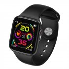 W4P Bluetooth 4.2 Smart Bracelet Heart Rate Blood Pressure Monitoring 1.54 inch LCD Watch black