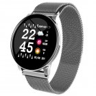 W8 Smart Watch Ladies Weather Forecast Fitness Sports Tracker Heart Rate Monitor Smartwatch Android Women Men's Watches Smart Bracelet Silver steel