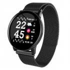 W8 Smart Watch Ladies Weather Forecast Fitness Sports Tracker Heart Rate Monitor Smartwatch Android Women Men s Watches Smart Bracelet Black steel