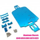 WLtoys 1/18 RC Car Metal Base Plate A949 A959-B A969 A979 Chassis K929 Parts blue