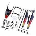 WLtoys V913 Canopy Landing Skid Main Gear Connect Buckles Swashplate Tail Blade Spare Parts For V913 2.4G 4CH RC Helicopter as shown