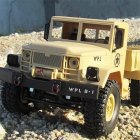 WPL B-14 RC Truck Remote Control 4 Wheel Drive Climbing Off-Road Vehicle Toy 2.4G Army Toys Car Shape with Head Lighting DIY KIT yellow_KIT