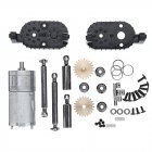 WPL C14 C24 C34 MN 90 91 Gear Box For 1/16 4WD 2.4G Buggy Crawler Off Road 2CH Vehicle Models RC Car Parts  black