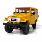 WPL C34KM 1/16 Metal Edition Kit 4WD 2.4G Buggy Crawler Off Road RC Car 2CH Vehicle Models With Head Light yellow_1/16