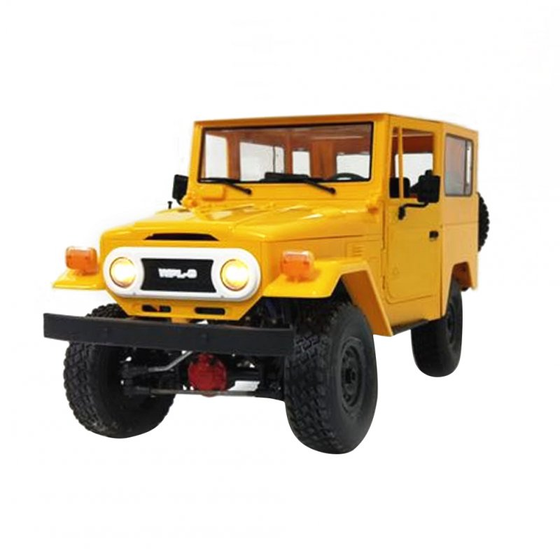 WPL FJ40 DIY 1:16 KIT RC Climbing Truck Off-Road Racing Car Toy Yellow KIT assembly version C34K_1:16