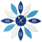 Wall Clock Noiseless Hanging Pendant for Restaurant Home Decoration blue