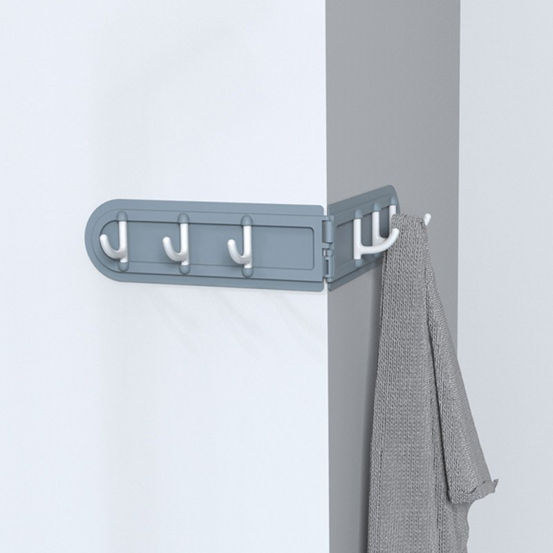 Wall Corner Hook Foldable Storage Rack Nail-free Key Hanger Wardrobe Bathroom Kitchen Organizer gray_36.7 * 5.8cm