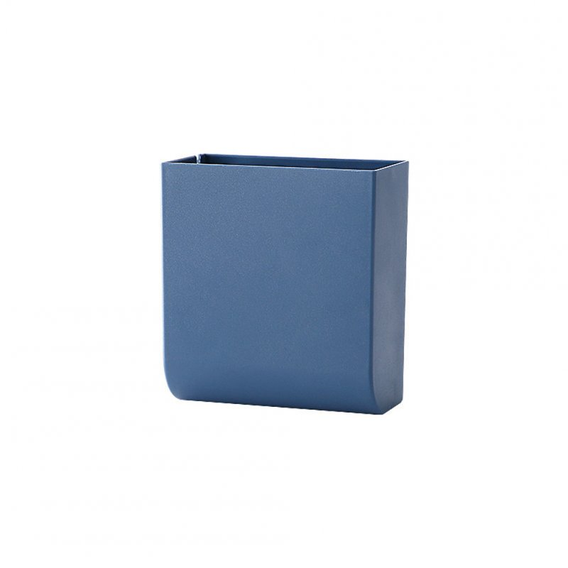 Wall Hanging Storage Box Multifunction Remote Control Storage Case Mobile Phone Plug Holder Stand Container blue