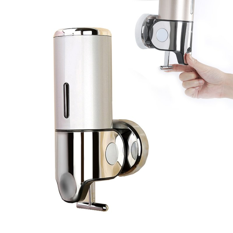 Wall Mount 500ml Soap Dispenser Plastic Liquid Container Hand Stainless Steel Soap Dispenser Silver