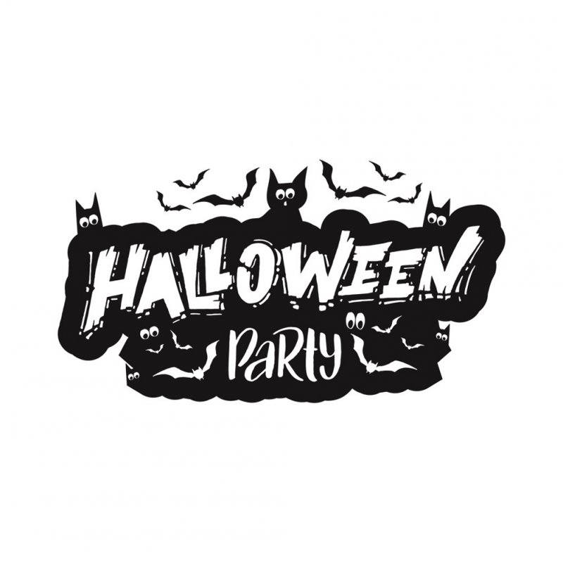 Wall Sticker Wallpaper Happy Halloween Sticker Home Kid Room Decoration AFH2095