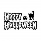 Wall Sticker Wallpaper Happy Halloween Sticker Home Kid Room Decoration AFH2094