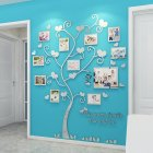 Wall Stickers Crystal Photo Frame Tree 3d Acrylic Living Room Bedroom Background Wall Decoration Silver Medium 129 160cm