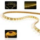 Warm white colored LED strip light   This 5M long waterproof LED light strip is extremely flexible and can be used as decorative lighting for trees or