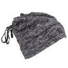 Warmful Scarf Hat Dual Purpose Autumn Winter Scarf Collar O Ring Neckerchief Warm Neck Fleece Thickened Neck Scarf YL-WB-01 hemp gray_One size