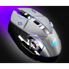 Warwolf Q8 Wireless Mouse Optical Mouse Gaming Silent USB Rechargeable 1600dpi for PC Laptop Computer Gray