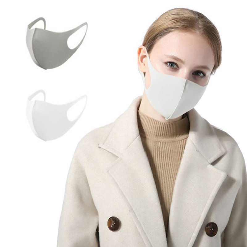 Washable Sponge Dust Guard Face Mask Reusable Foam Anti Air Pollution Mouth Mask white_5 pcs