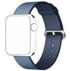 Watch Band For Apple, Sports Nylon Replacement Strap Wrist Band for Apple Watch 1/2 38mm/42mm Navy blue_42mm