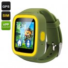Watch over your children with the GPS Tracker Kids Watch Phone featuring an SOS button and iOS and Android app support