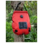 Water Bags For Outdoor Camping Hiking Solar Shower Bag 20L Heating Camping Shower Bag red