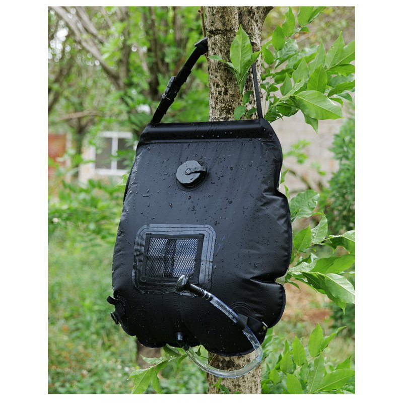Water Bags For Outdoor Camping Hiking Solar Shower Bag 20L Heating Camping Shower Bag black