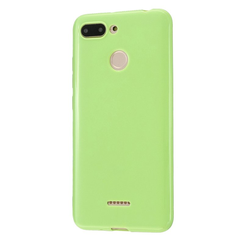 For Redmi 6/6A/6 Pro Cellphone Case Simple Profile Soft TPU Ultra Light Anti-Scratch Phone Cover Fluorescent green
