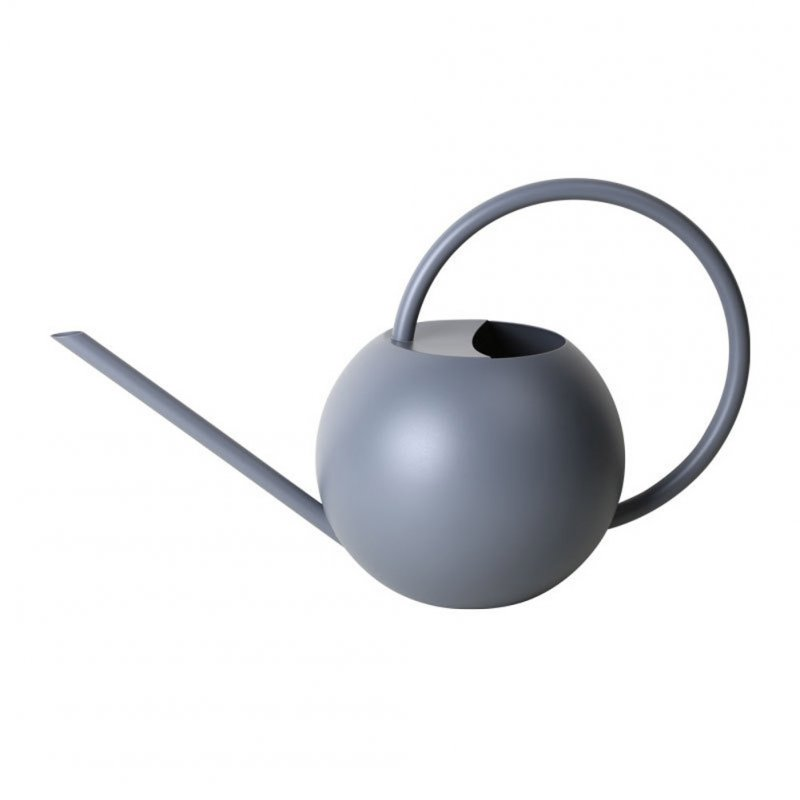 Watering Can 1L Long Spout Spherical Household Indoor Plant Potted Stainless Steel Watering Kettle gray