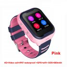 Waterproof 4G Kids Smart Watch Support Bluetooth Connect Pink