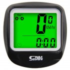 Waterproof Bike Bicycle Computer Outdoor Multifunction Cycling Odometer Speedometer with LCD Backlight black