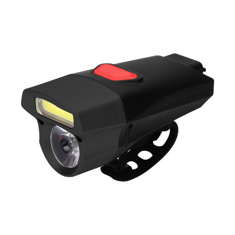 Waterproof COB USB Rechargeable LED Cycling MTB Bike Bicycle Head Light Tortch Lamp black + black head 112g