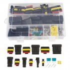 Waterproof Car Auto Electrical Wire Connector Plug Kit 1-6 Pin Way + Blade Fuses 240pcs/set