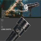 Waterproof D150B L2 Strong Light LED Diving Flashlight Underwater Lamp Single flashlight