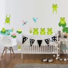 Waterproof DIY Cartoon Frogs Pattern Self Adhesive Wall Sticker for Kids Bedroom Bathroom CS5136 (25*62 cm)