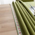 Waterproof Embroidery Table  Cloth Decorative Fabric Table Cover For Outdoor Indoor Green_140*200cm