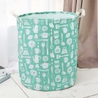 Waterproof Foldable Printing Storage Basket for Kid Toys Bathroom Laundry Organize
