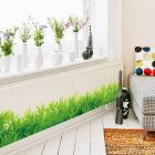 Waterproof Green Meadow Grass Wall Sticker