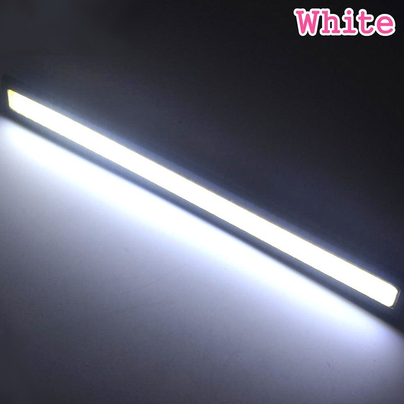 Waterproof LED Ultra Bright Daytime Running light DC 12V 17cm Car Driving lamp 17CM black shell white light