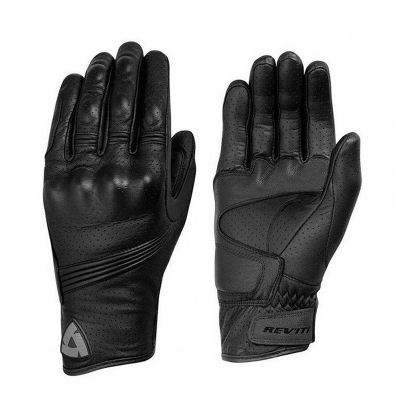 Waterproof Leather Protective Gloves for Motorcycle Downhill Cycling Racing black_L
