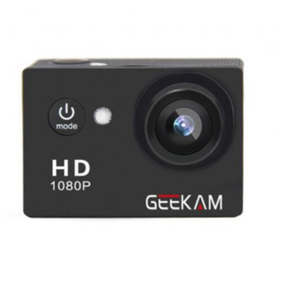 GEEKAM A9 HD 1080P Waterproof Camera Black
