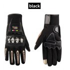 Waterproof Motorcycle Gloves Outdoor Sports Hard Shell Protection Cycling Gloves Touch screen black_L