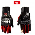 Waterproof Motorcycle Gloves Outdoor Sports Hard Shell Protection Cycling Gloves Touch screen red_L
