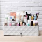 Waterproof Plastic Cosmetics Makeup Box Large Capacity ABS Cosmetic Case white