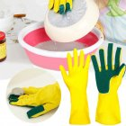 Waterproof Scrub Glove Dish Washing Cleaning