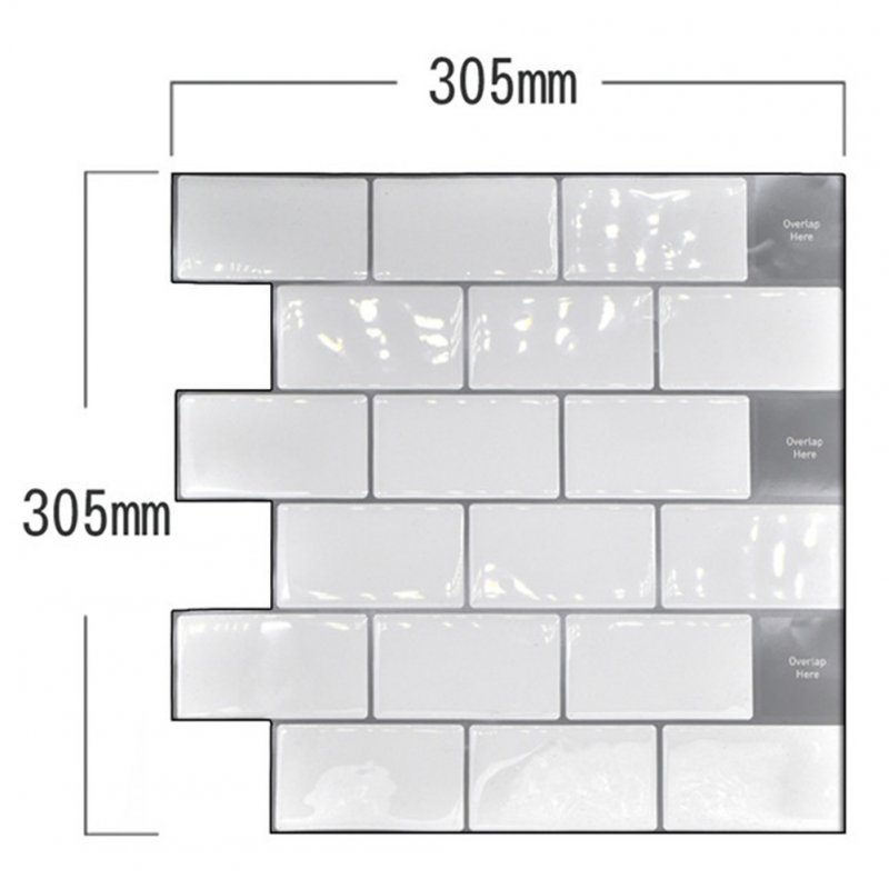 Waterproof Self-adhesive 3D Wall Sticker DIY Kitchen Bathroom Dormitory Furniture YJC0071Y